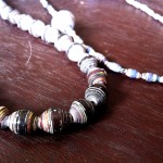 8. Recycled paper bead necklace