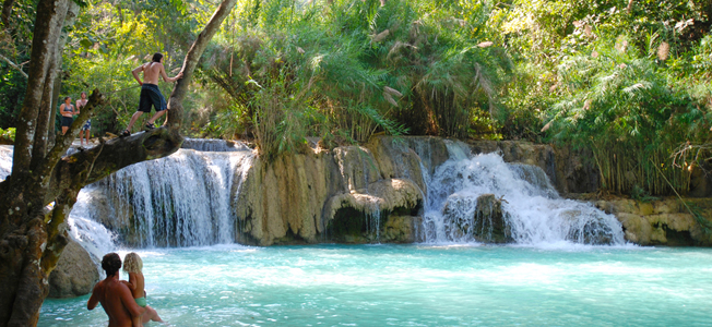 How Many Miles From >> How to get to Kuang Si Waterfall in Luang Prabang