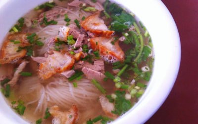 The best noodle soup in Luang Prabang