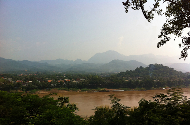panoramic view of Luang Prabang